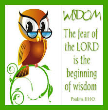 the day you begin to fear the lord is the day you become the wisest person.he wisens you